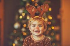 Happy celebrating Christmas royalty free stock photography