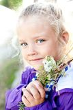 Portrait of a cheerful little girl Royalty Free Stock Image