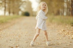 Portrait of a cheerful little girl Royalty Free Stock Photography