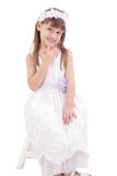 A portrait of a cheerful little girl Royalty Free Stock Photography