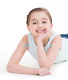 Portrait of a cheerful little girl. Royalty Free Stock Images
