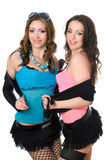 Portrait of cheerful lovely young women Stock Photography