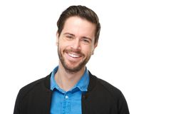 Portrait of a cheerful man with beard smiling Stock Photography