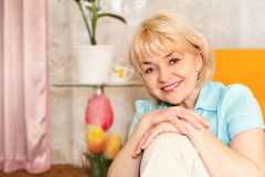Portrait of  cheerful mature woman Stock Photo
