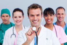 Portrait of a cheerful medical team Stock Photos