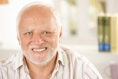 Portrait of cheerful pensioner Stock Photography