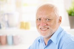 Portrait of cheerful pensioner Stock Image