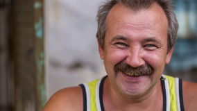 Portrait of Cheerful Rural Man stock video