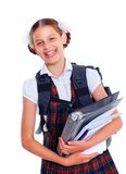 Portrait of cheerful schoolgirl Royalty Free Stock Image