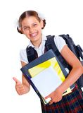 Portrait of cheerful schoolgirl Stock Images