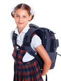 Portrait of cheerful schoolgirl Royalty Free Stock Photo