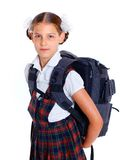 Portrait of cheerful schoolgirl Royalty Free Stock Photography