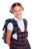 Portrait of cheerful schoolgirl Stock Photo