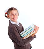 Portrait of cheerful schoolgirl Royalty Free Stock Images