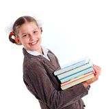 Portrait of cheerful schoolgirl Stock Image