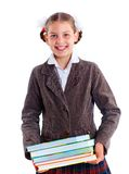 Portrait of cheerful schoolgirl Royalty Free Stock Photos