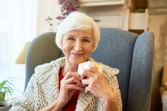 Portrait of Cheerful Senior Woman stock image