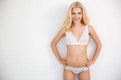 Portrait of a cheerful sexy girl Stock Photography