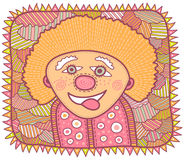 Portrait of a cheerful smiling clown Royalty Free Stock Photos