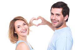 Portrait of cheerful smiling couple. Royalty Free Stock Photo