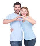 Portrait of cheerful smiling couple. Royalty Free Stock Image