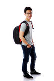 Portrait of a cheerful student with backpack Royalty Free Stock Images
