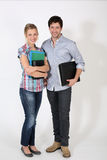 Portrait of cheerful students isolated Stock Images