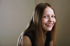 Portrait of a cheerful teen girl Royalty Free Stock Photography