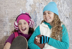 Portrait of cheerful teenage girls Stock Photography