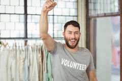 Portrait of cheerful volunteer Royalty Free Stock Photography