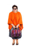 Portrait of cheerful woman with her bags Stock Photo