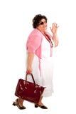 Portrait of cheerful woman Stock Photos