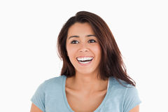Portrait of a cheerful woman standing Royalty Free Stock Photo