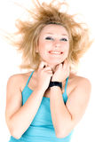 Portrait of cheerful young blond girl Royalty Free Stock Image