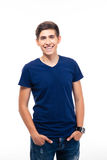 Portrait of a cheerful young casual man Stock Images