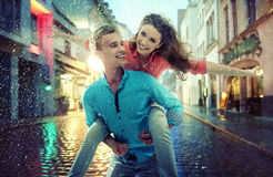 Portrait of a cheerful young couple Royalty Free Stock Image