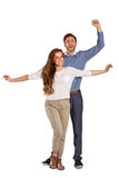 Portrait of cheerful young couple Stock Photo