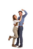 Portrait of cheerful young couple Stock Photography