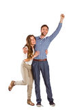 Portrait of cheerful young couple Royalty Free Stock Image