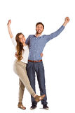 Portrait of cheerful young couple Royalty Free Stock Photography