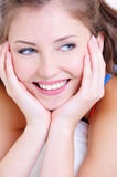 Portrait of a cheerful young female Royalty Free Stock Image