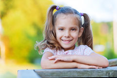 Portrait of cheerful young girl Royalty Free Stock Photography