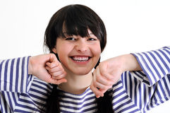 Portrait of cheerful young woman Stock Photography