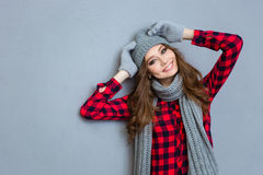 Portrait of a cheerful young woman Royalty Free Stock Photo