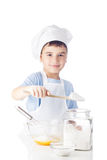 Portrait of chef boy Royalty Free Stock Images