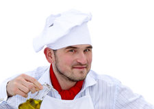 Portrait of chef with cruet Stock Image