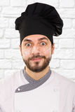 Portrait of chef with flour on face Royalty Free Stock Photo