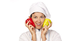 Portrait of chef isolated over white background Royalty Free Stock Image