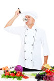 Portrait of chef with ladle Stock Image