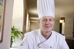 Portrait Of Chef In Restaurant Royalty Free Stock Photos
